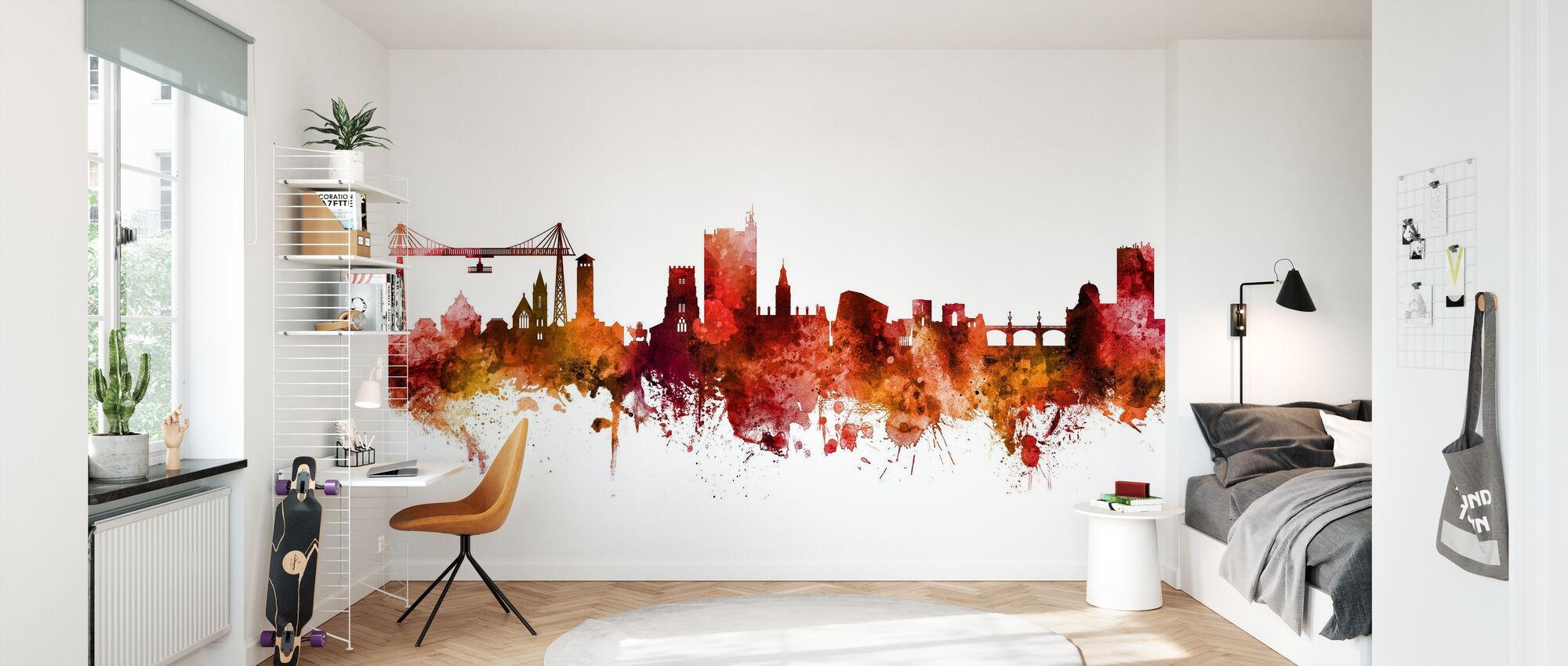 Newport Wales Skyline - Wallpaper - Kids Room