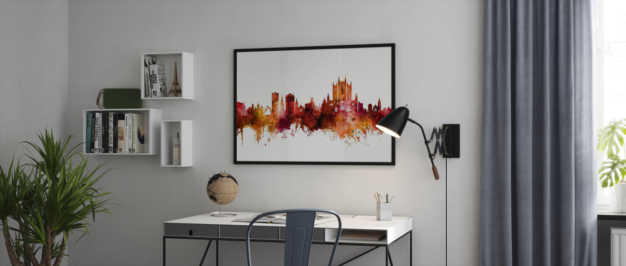 Lincoln England Skyline - Poster - Office