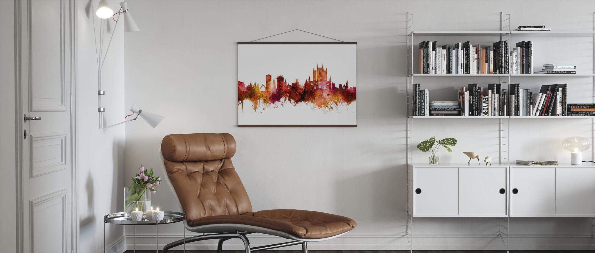 Lincoln England Skyline - Poster - Living Room