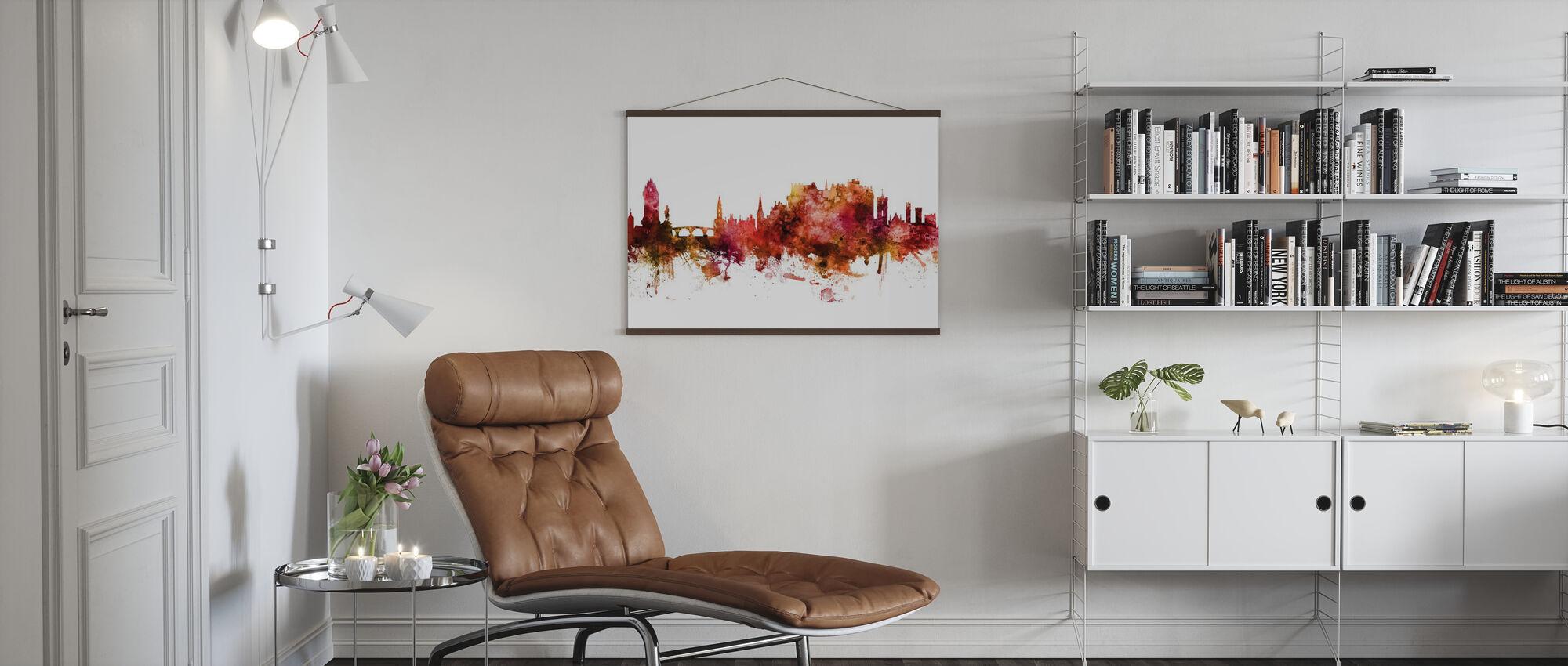Stirling Scotland Skyline - Poster - Living Room