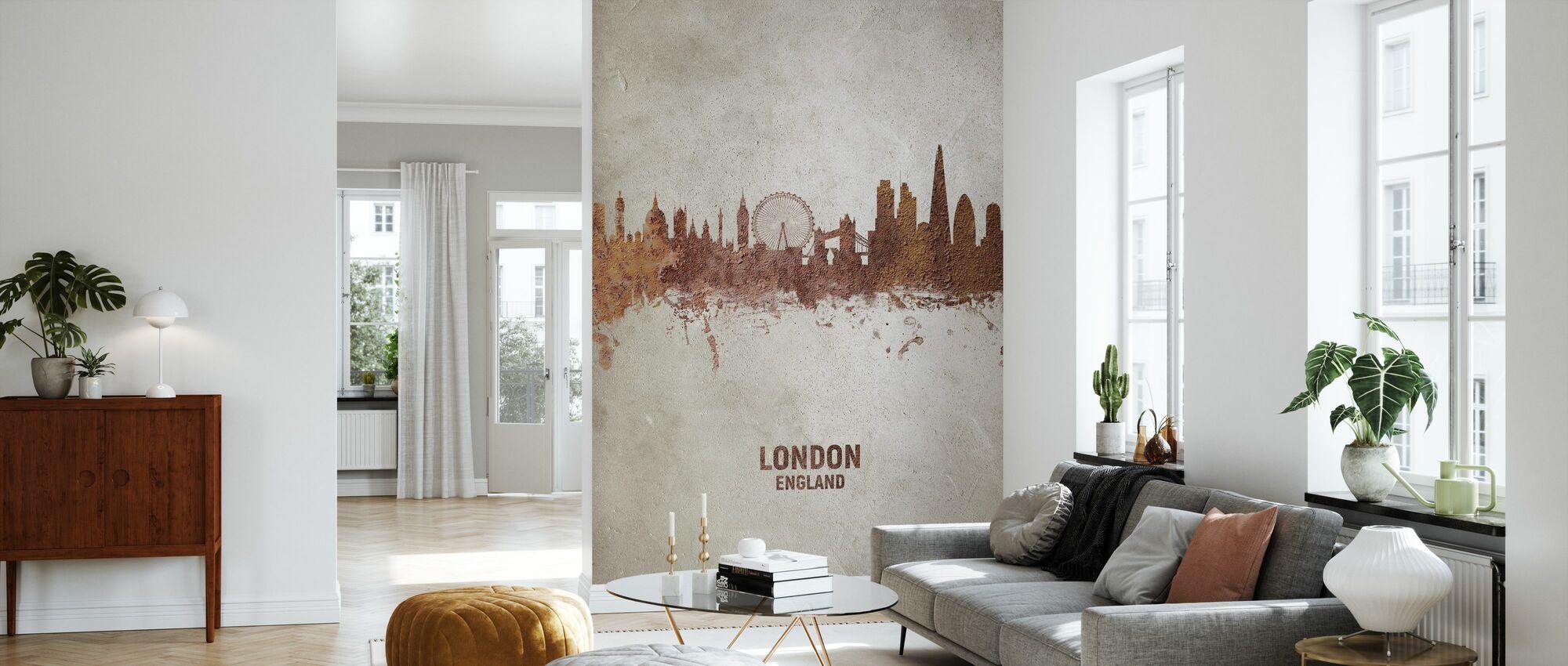 London England Rust Skyline - Tapet - Stue