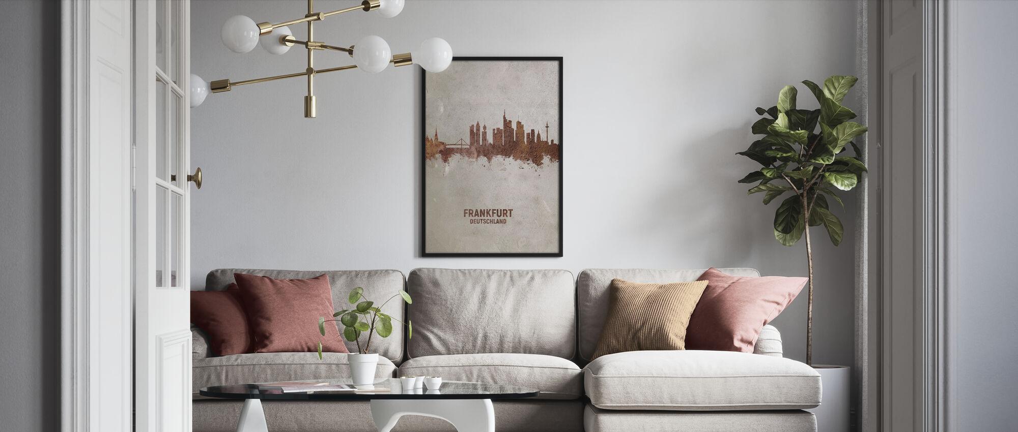 Frankfurt Deutschland Skyline Rust - Poster - Wohnzimmer