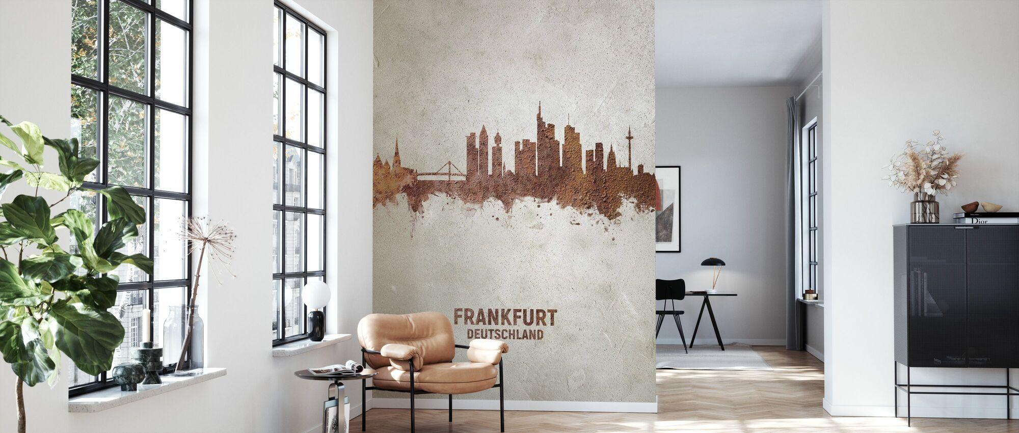 Frankfurt Deutschland Skyline Rust - Tapete - Wohnzimmer