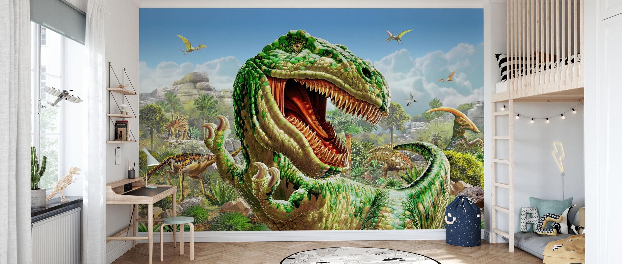 Dinoland - Tapet - Barnrum