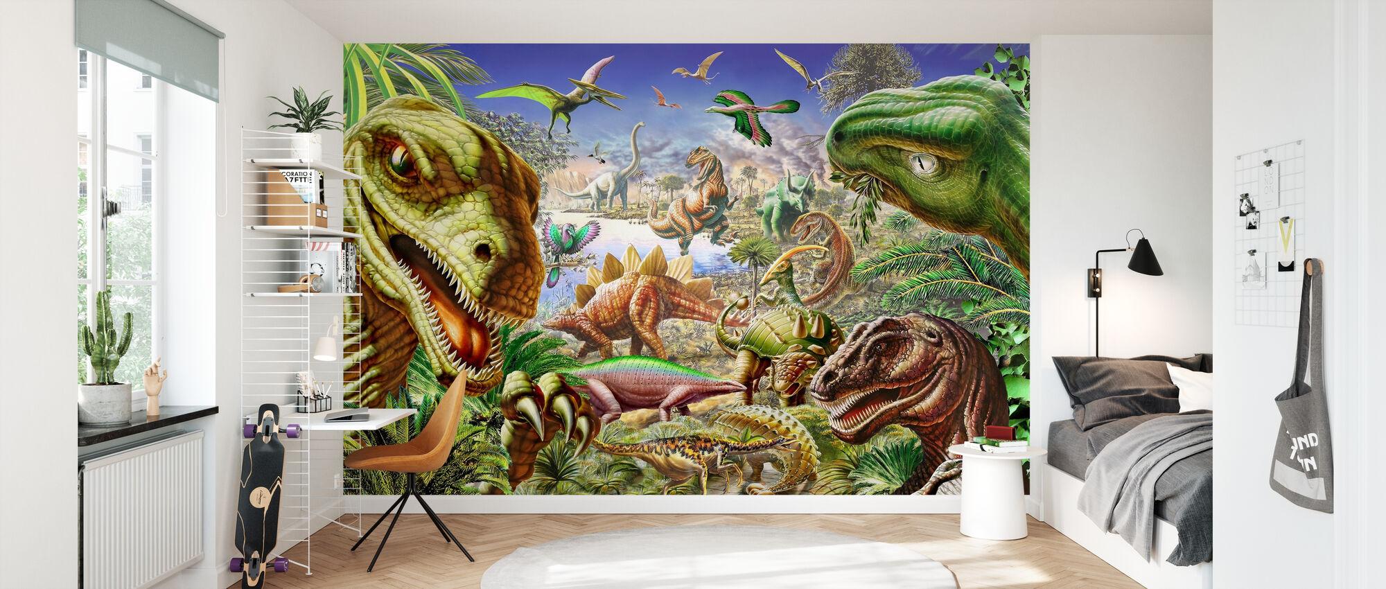 Dinosaur_s World 2 - Wallpaper - Kids Room