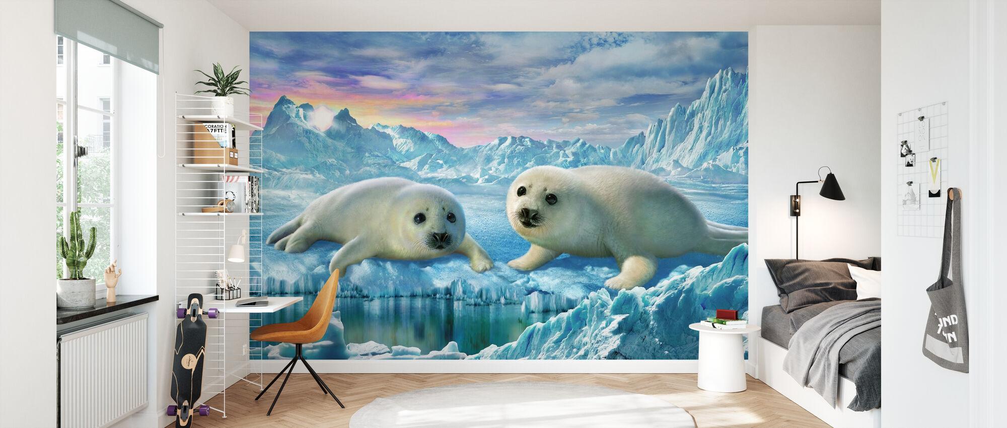 Cuccioli Seal - Carta da parati - Camera dei bambini