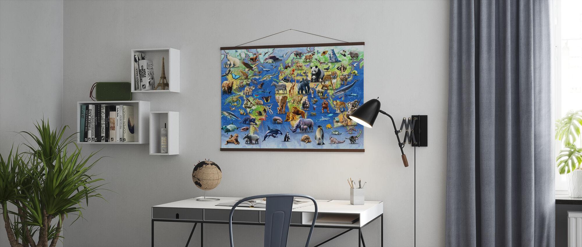 Honderd bedreigde soorten - Poster - Kantoor