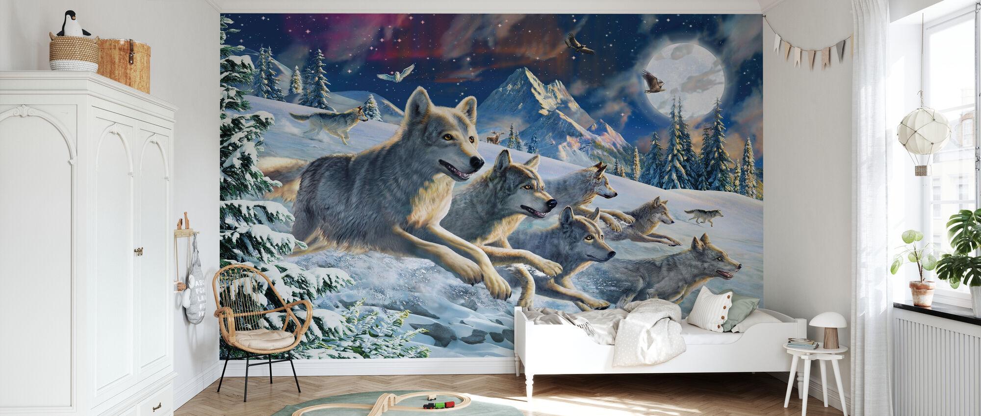 Måneskinn Wolfpack - Tapet - Barnerom