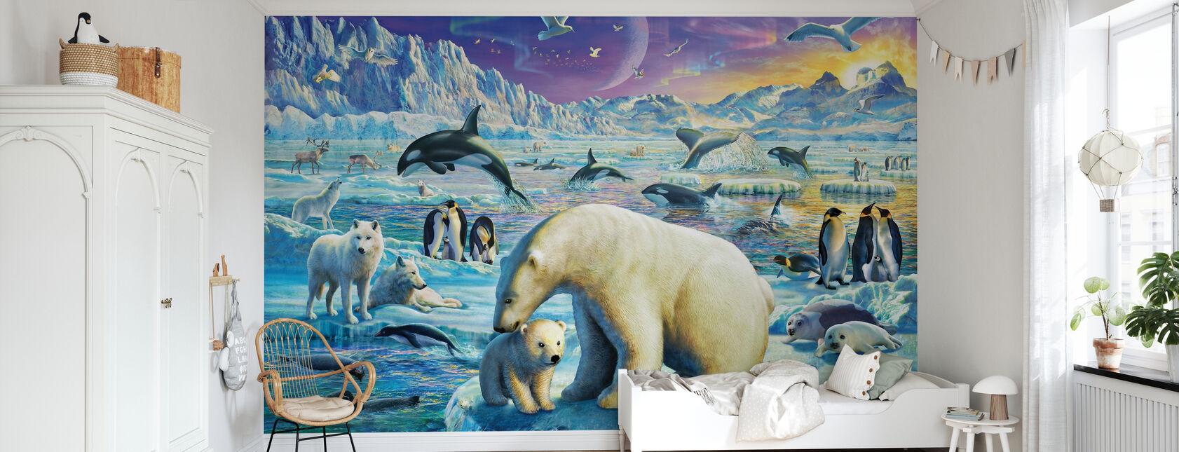Arktisk aften - Tapet - Børneværelse