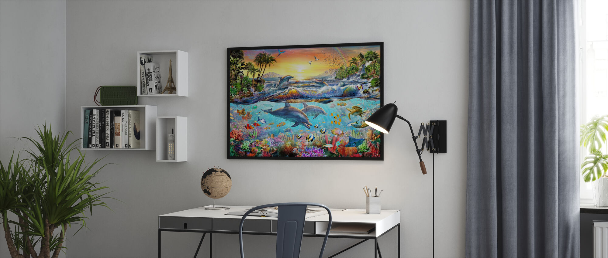 Tropical Bay - Framed print - Office