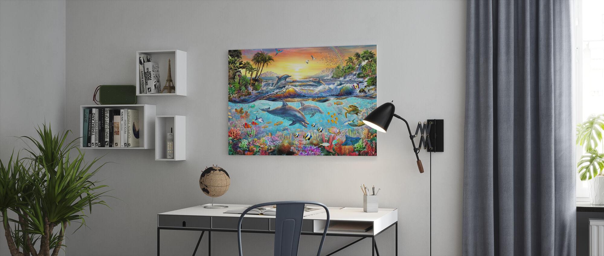Tropisk bukt - Lerretsbilde - Kontor
