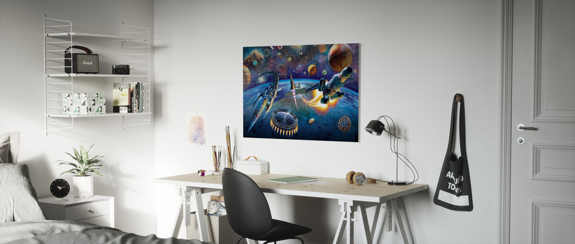 Outer Space - Canvas print - Kids Room