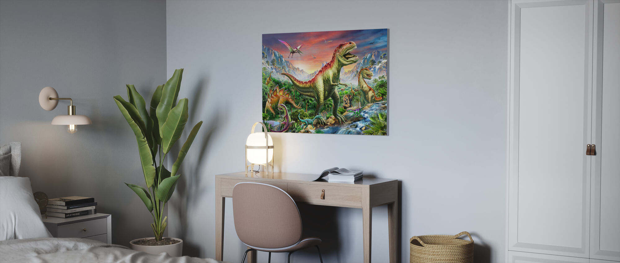 Jurassic Forest - Canvas print - Office