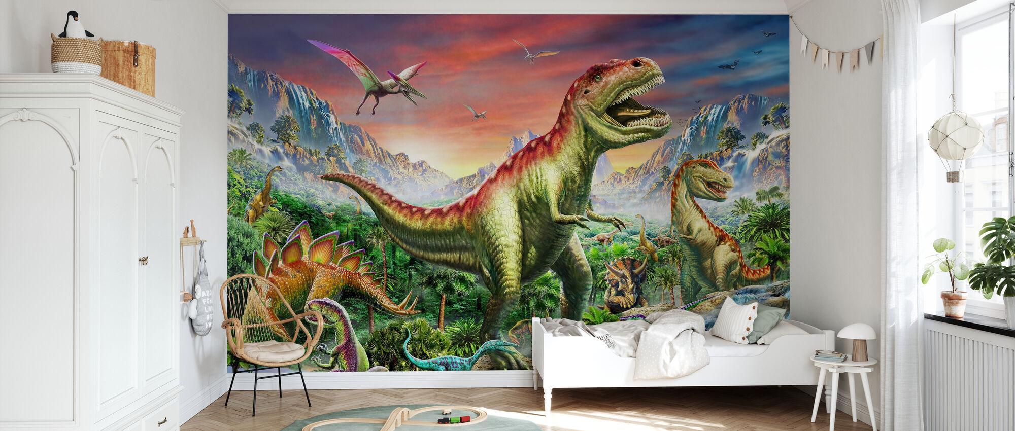 Jurassic Wald - Tapete - Kinderzimmer