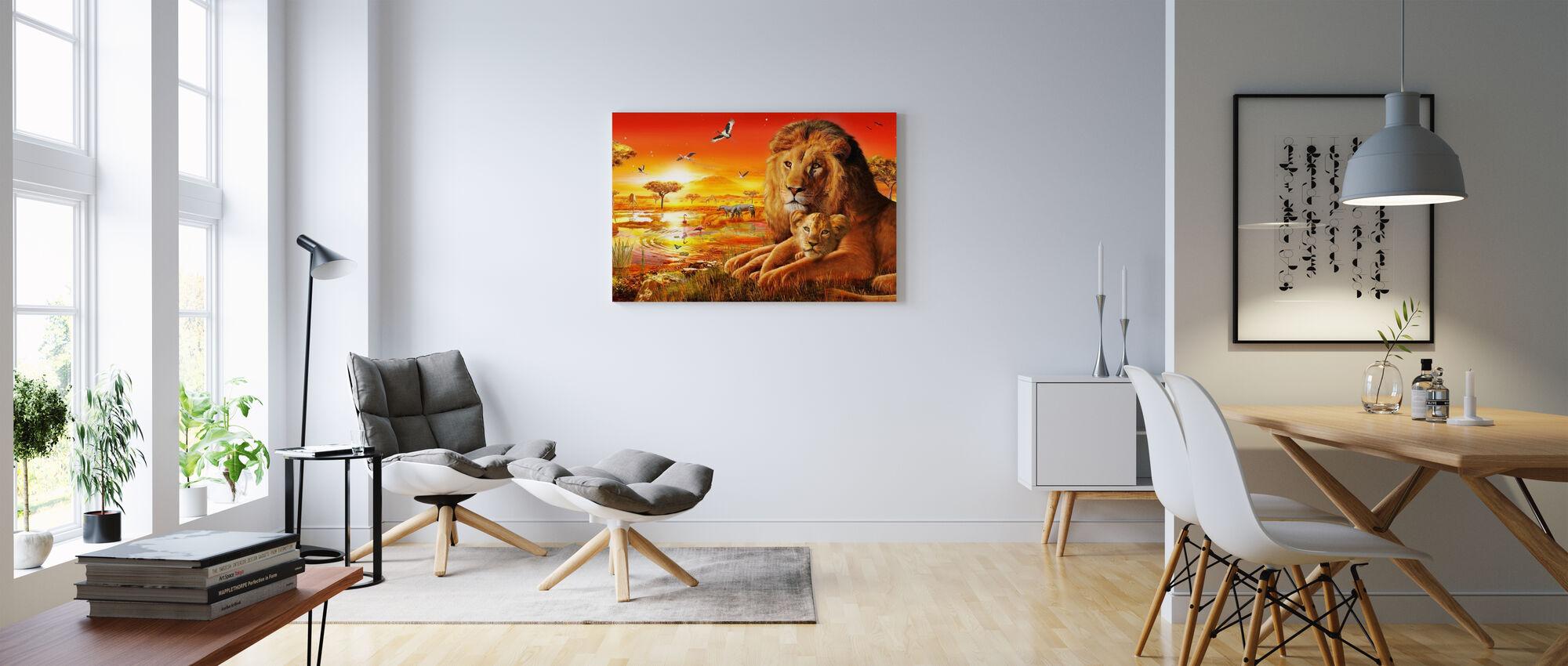 Savanna Sundown - Canvas print - Woonkamer