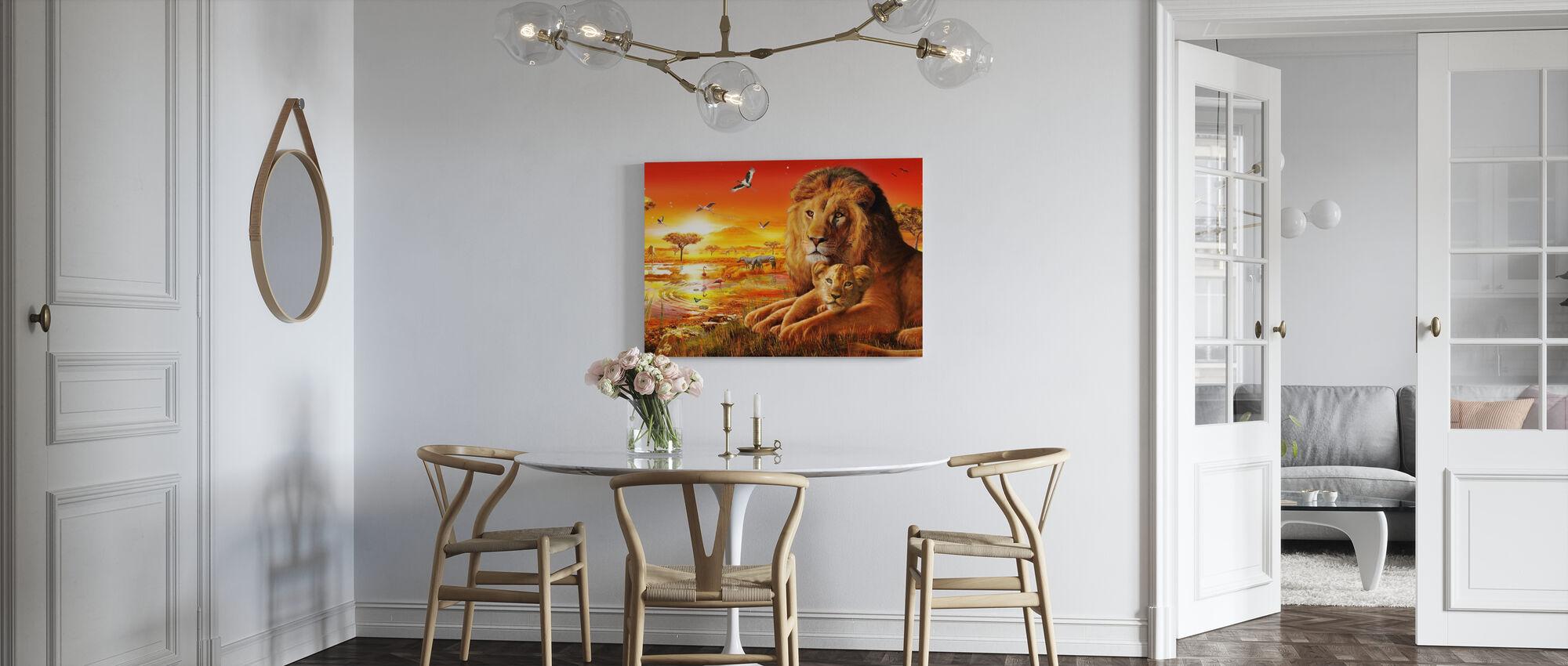 Savanna-solnedgang - Lerretsbilde - Kjøkken