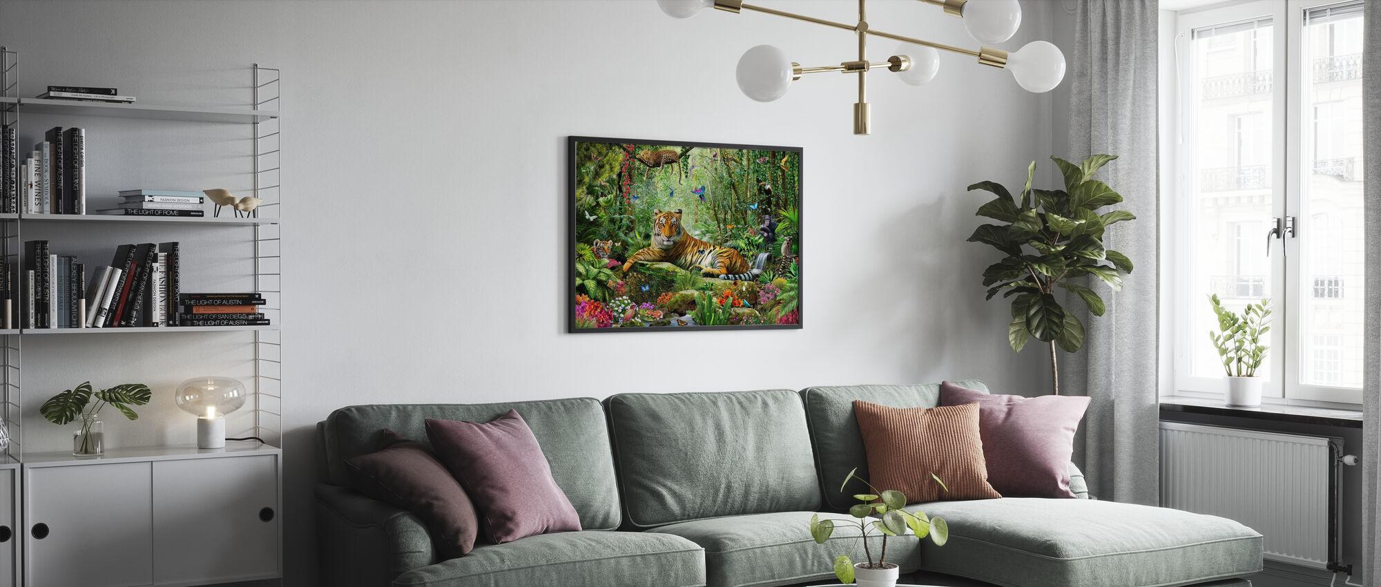 Tiger i djungeln - Poster - Vardagsrum