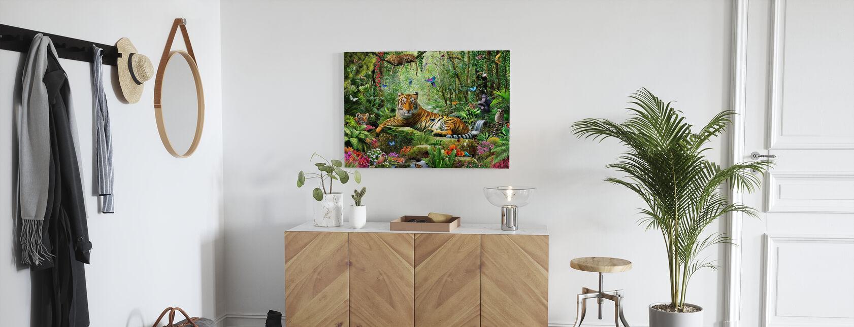 Tigre dans la jungle - Impression sur toile - Entrée