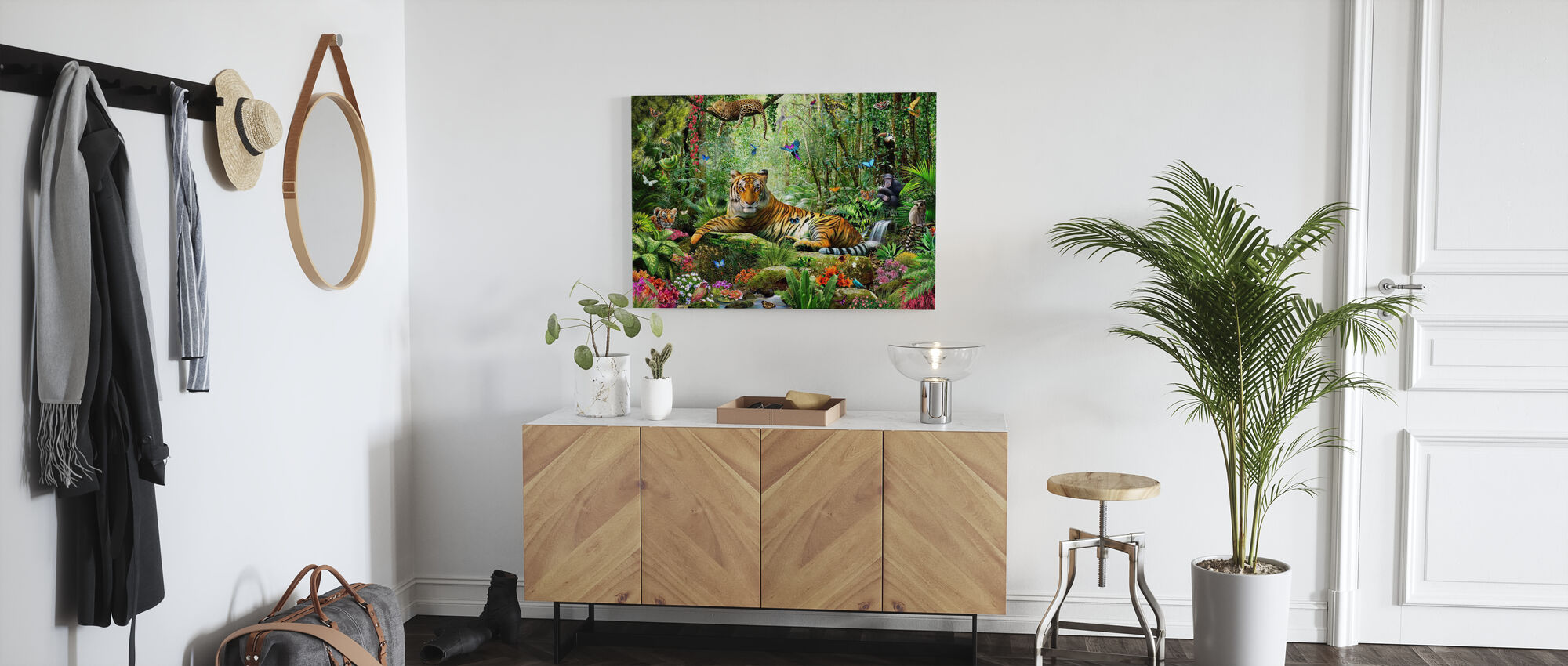 Tiger In The Jungle - Canvas print - Hallway