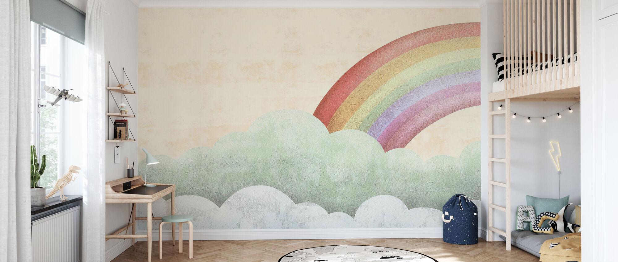 regnbåge - Tapet - Barnrum