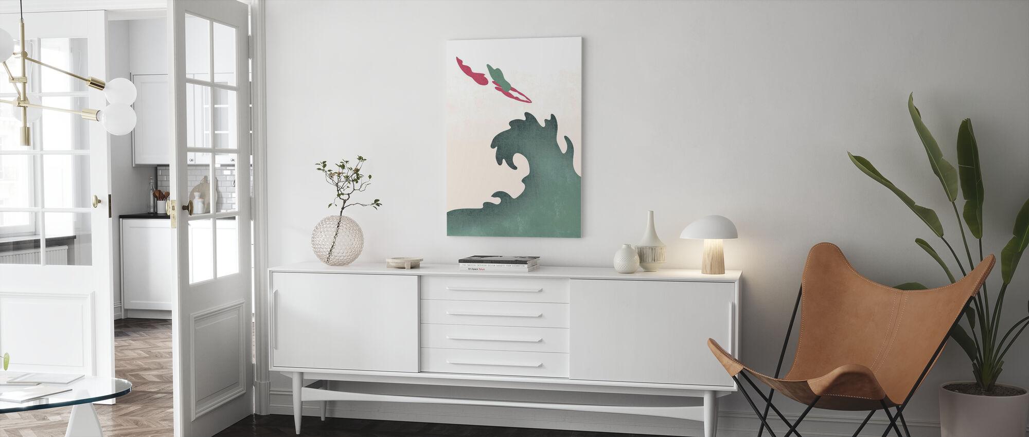 Heilige Duiker - Groen - Canvas print - Woonkamer