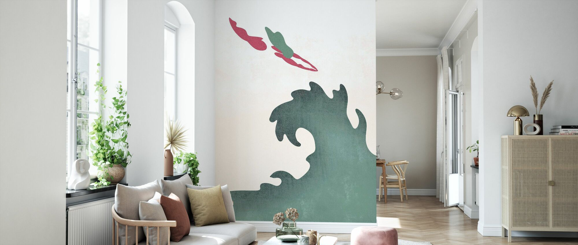 Holy Diver - Green - Wallpaper - Living Room
