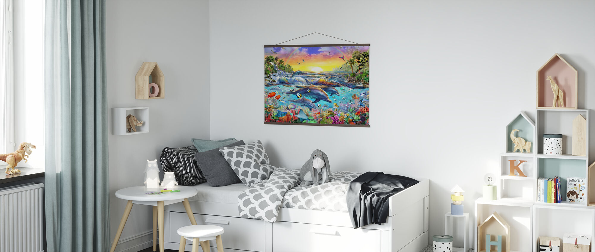 Tropical Cove - Poster - Kids Room