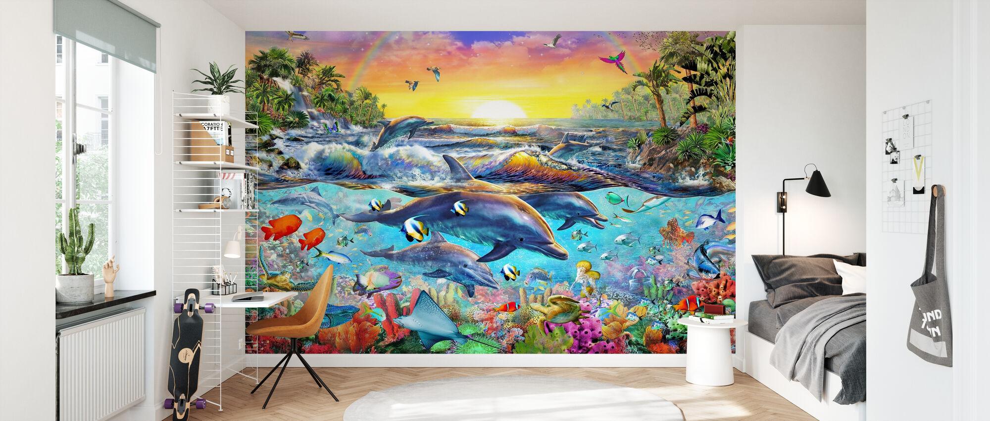 Tropical Cove - Wallpaper - Kids Room