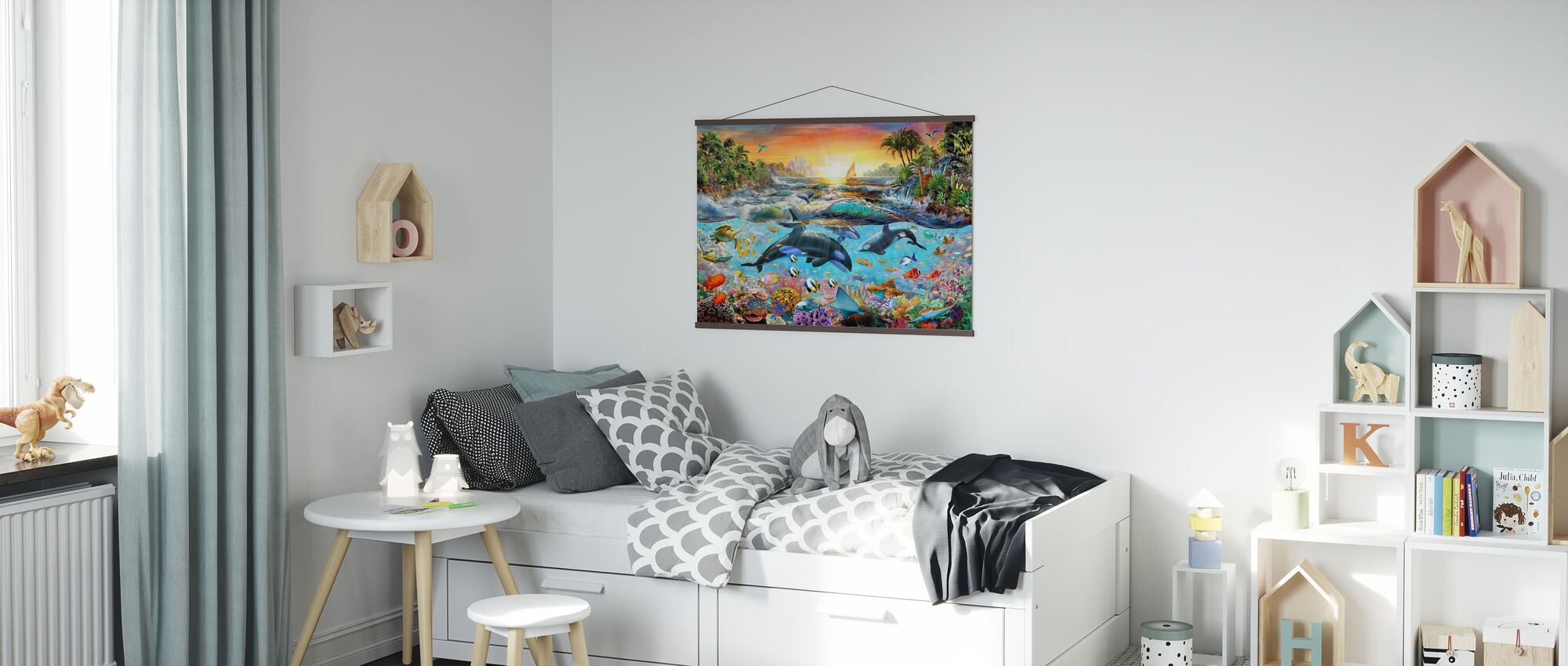 Orca Paradise - Poster - Kids Room