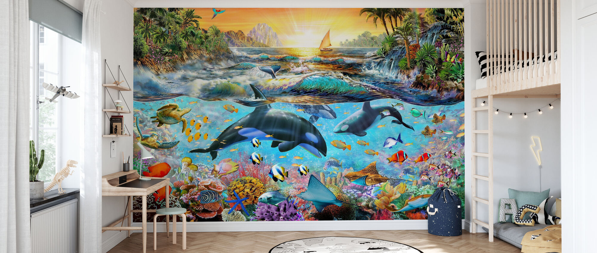 Orca Paradise - Wallpaper - Kids Room