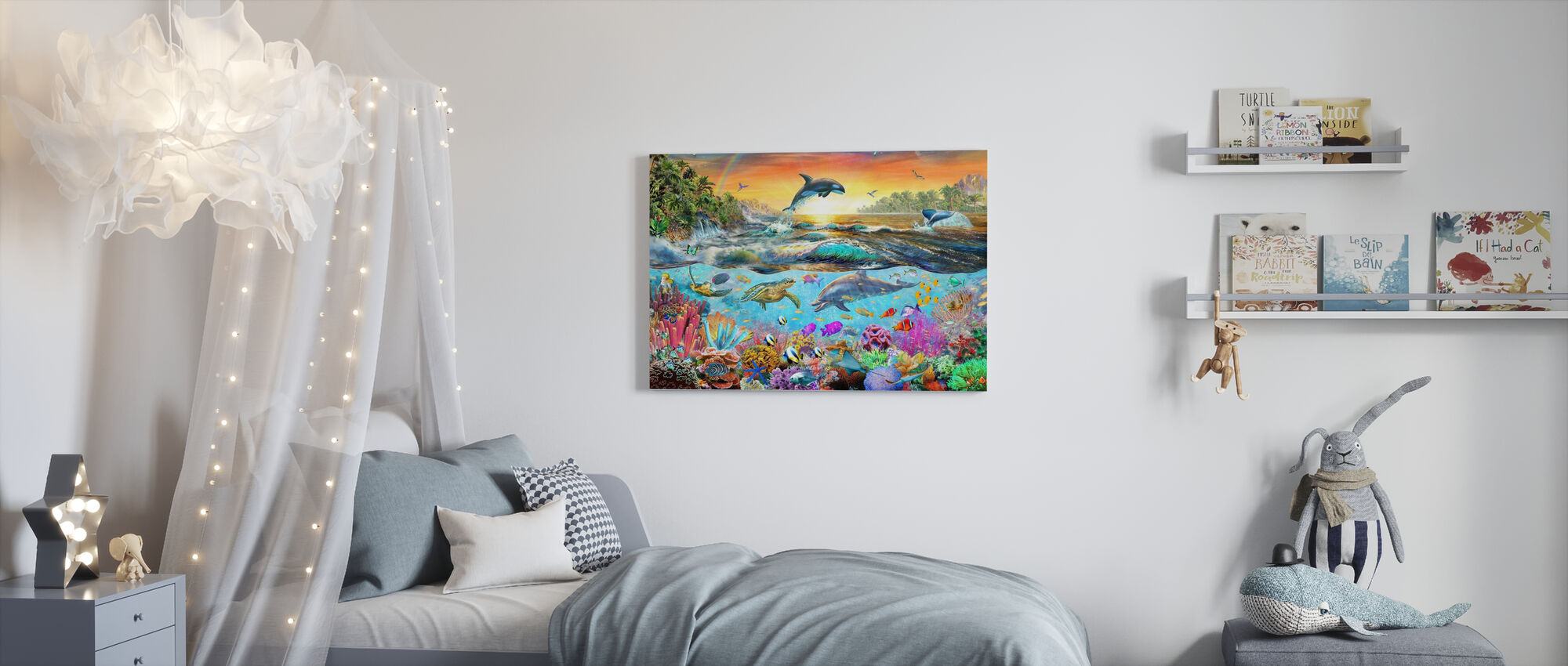 Tropical Paradise - Canvas print - Kids Room