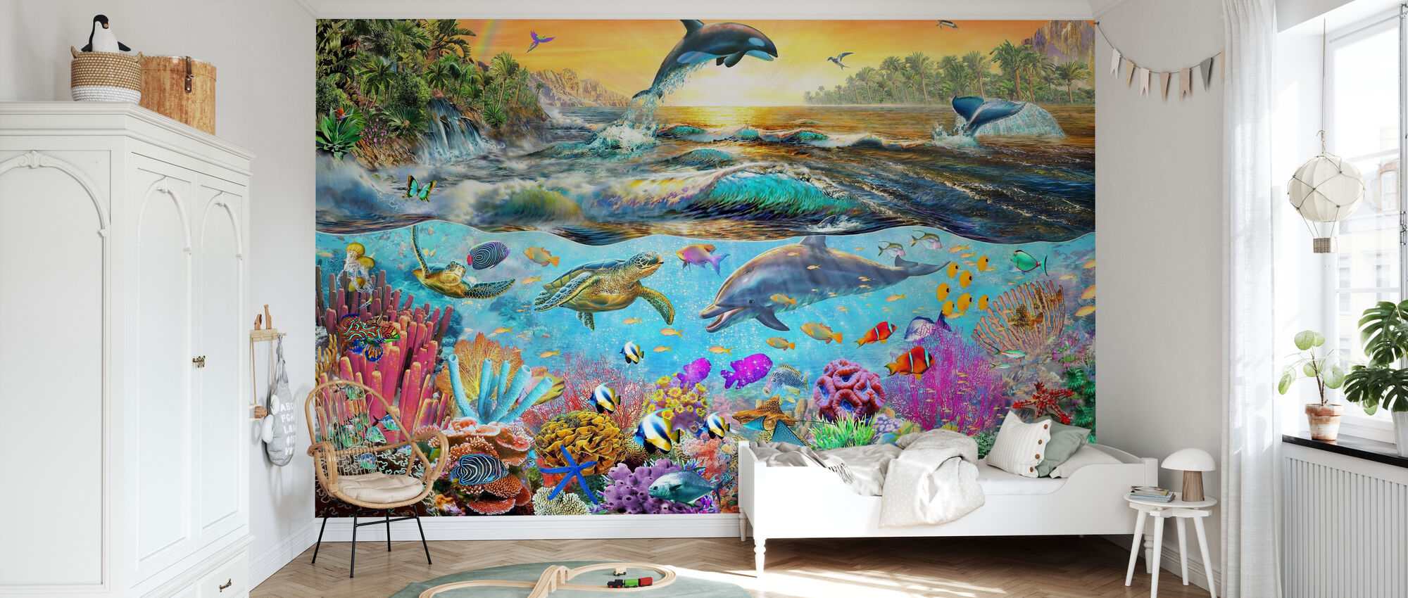 Tropical Paradise - Wallpaper - Kids Room