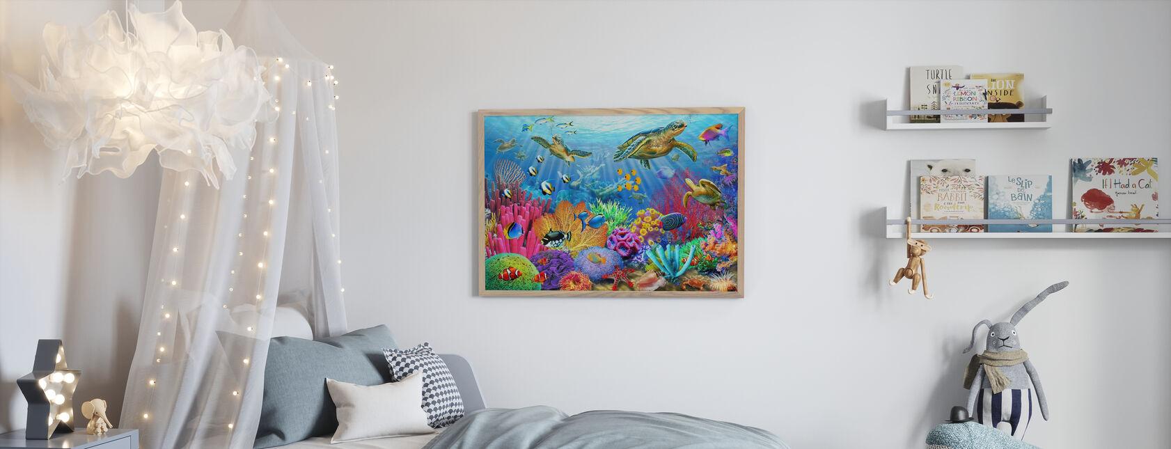 Kilpikonna Koralliriutta - Juliste - Lastenhuone
