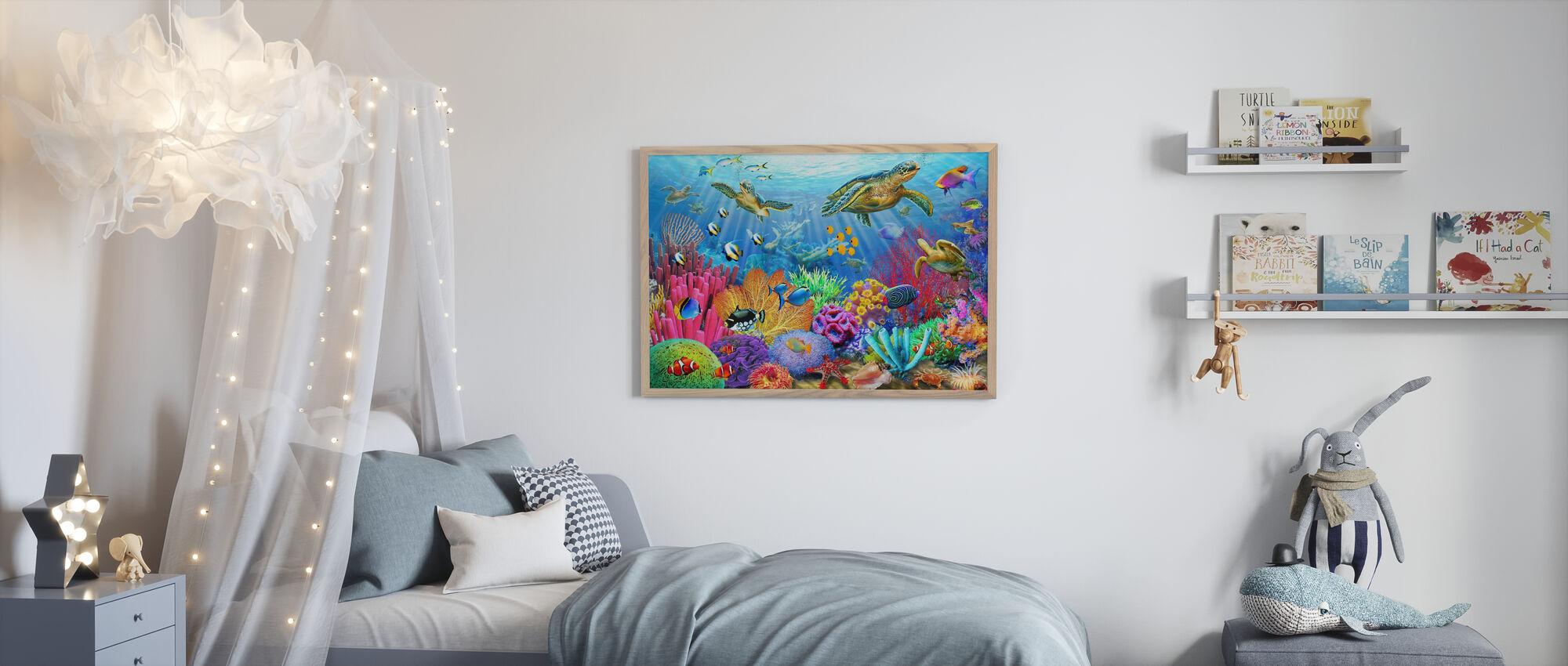 Skilpadde Korallrev - Plakat - Barnerom