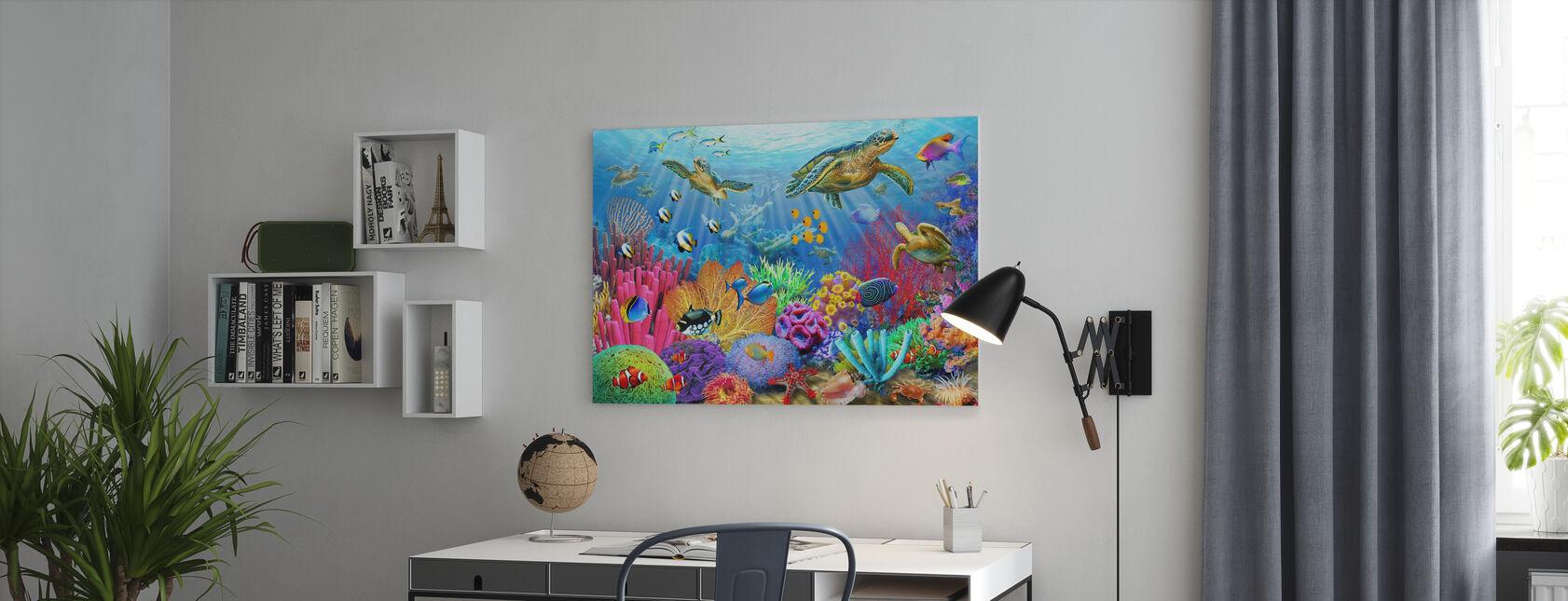 Schildpad Koraalrif - Canvas print - Kantoor