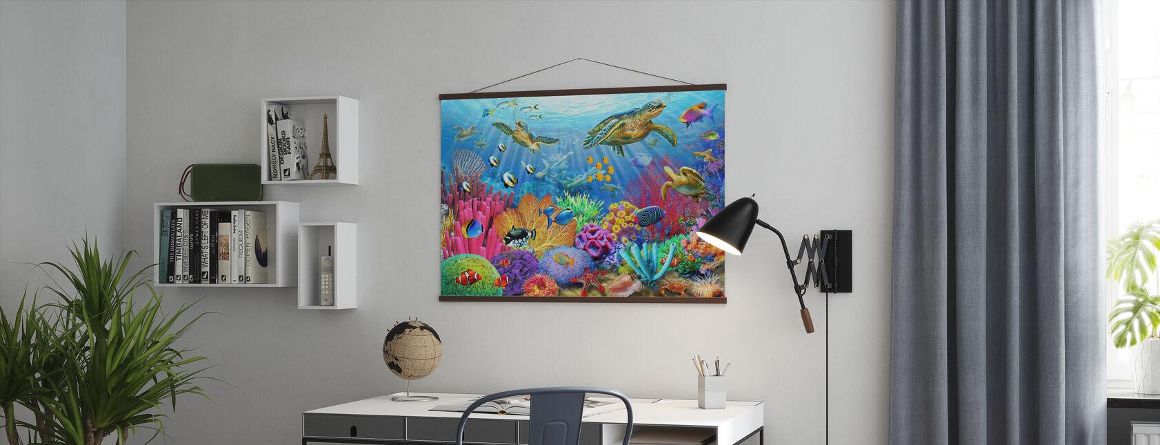 Schildpad Koraalrif - Poster - Kantoor