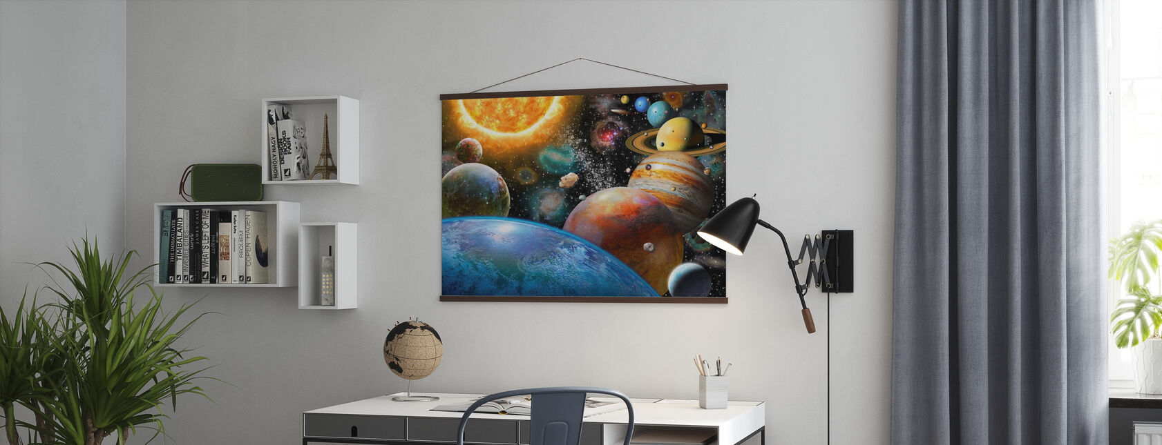 Planets and Their Moons - Poster - Office