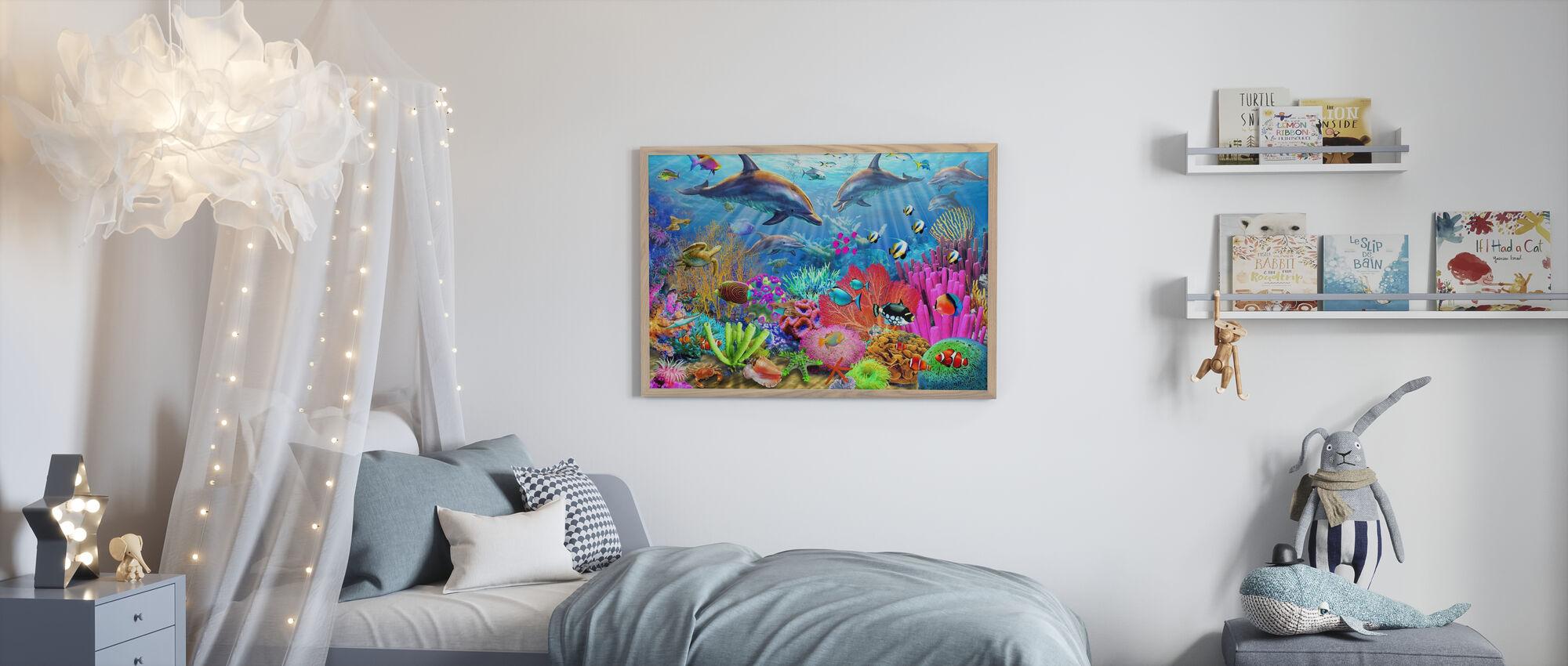 Delfin Korallrev - Plakat - Barnerom