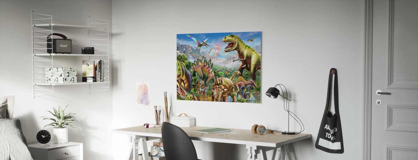 Dino Group - Canvas print - Kids Room
