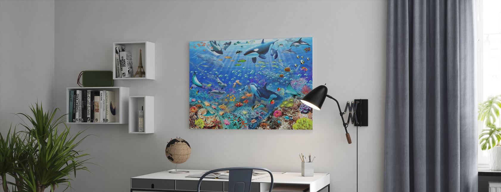 Underwater Scene - Canvas print - Office