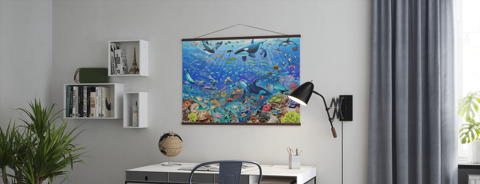 Underwater Scene - Poster - Office
