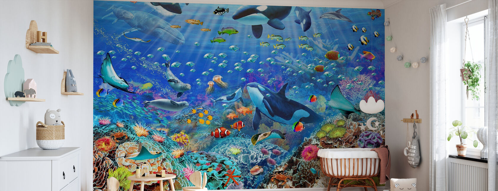 Underwater Scene - Wallpaper - Nursery