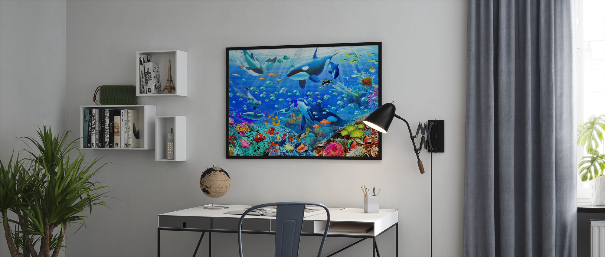 Onderwater Panorama - Ingelijste print - Kantoor
