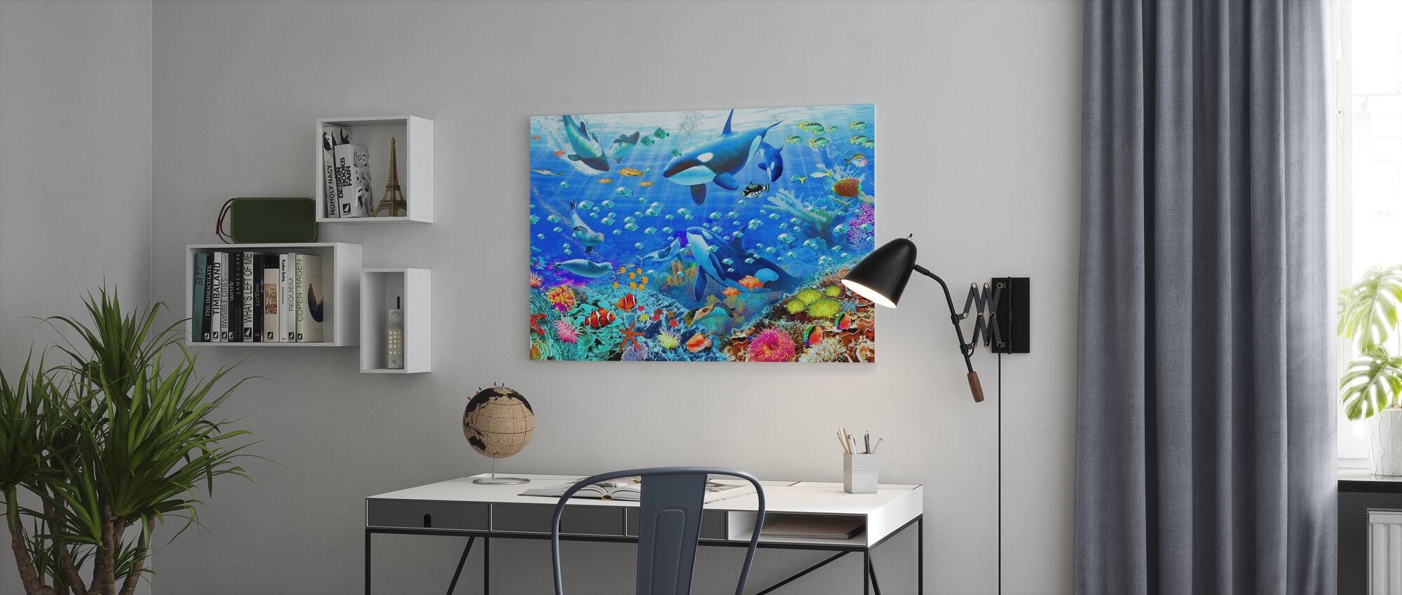 Underwater Panorama - Canvas print - Office