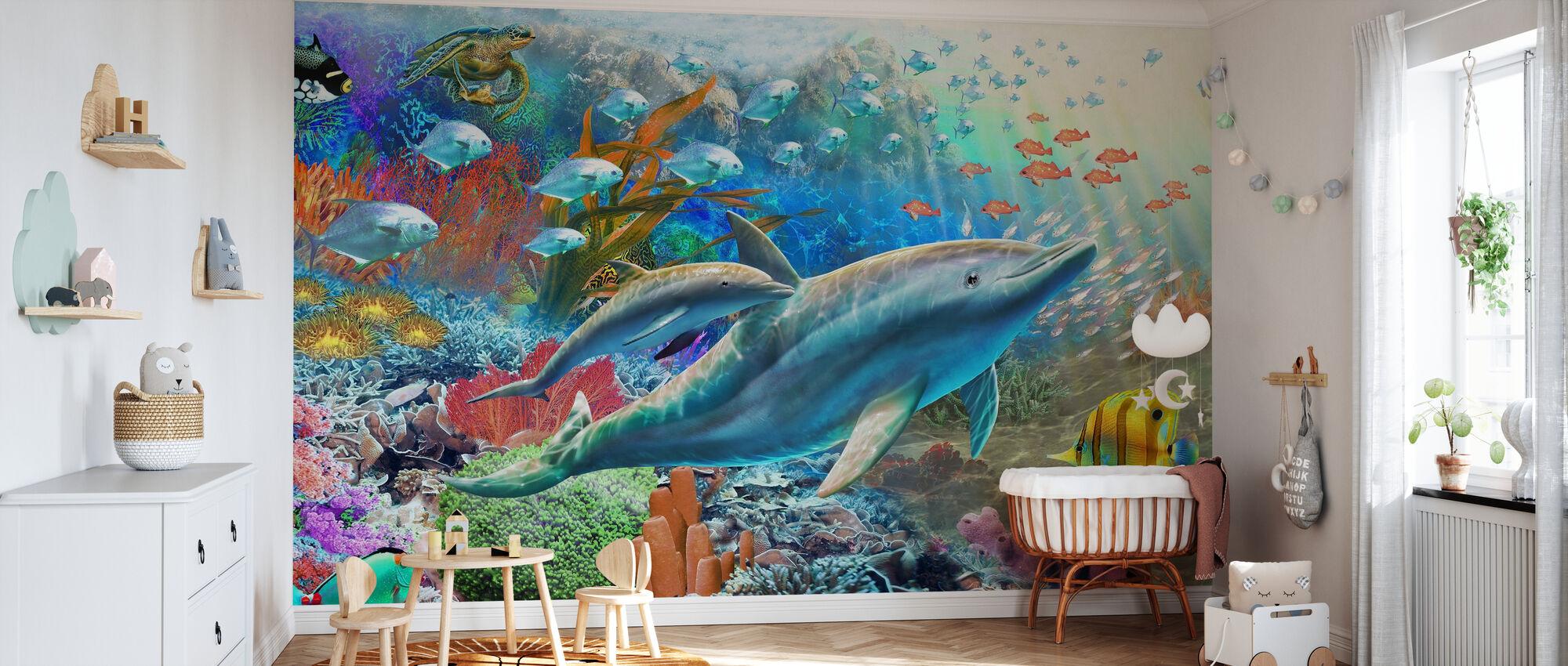 Land and Water Utopia I - Wallpaper - Nursery
