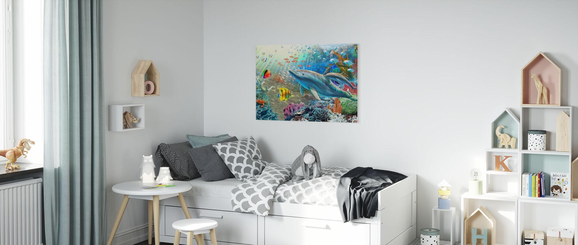 Land and Water Utopia II - Canvas print - Kids Room