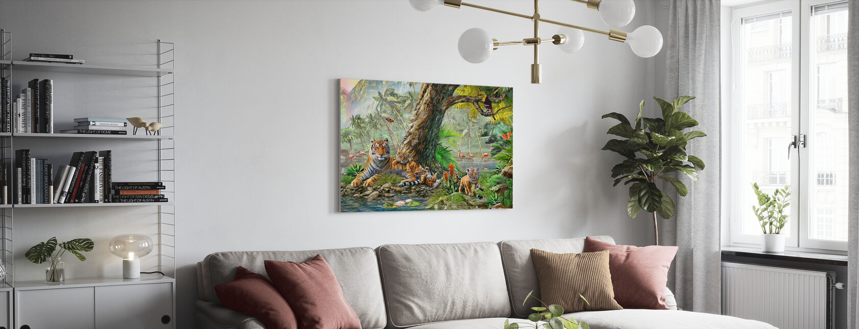 Land en water Utopia III - Canvas print - Woonkamer