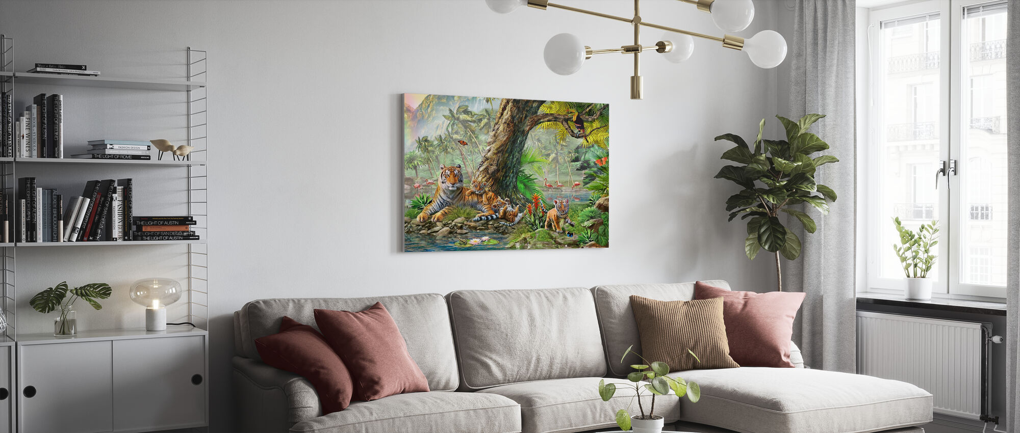 Land and Water Utopia III - Canvas print - Living Room