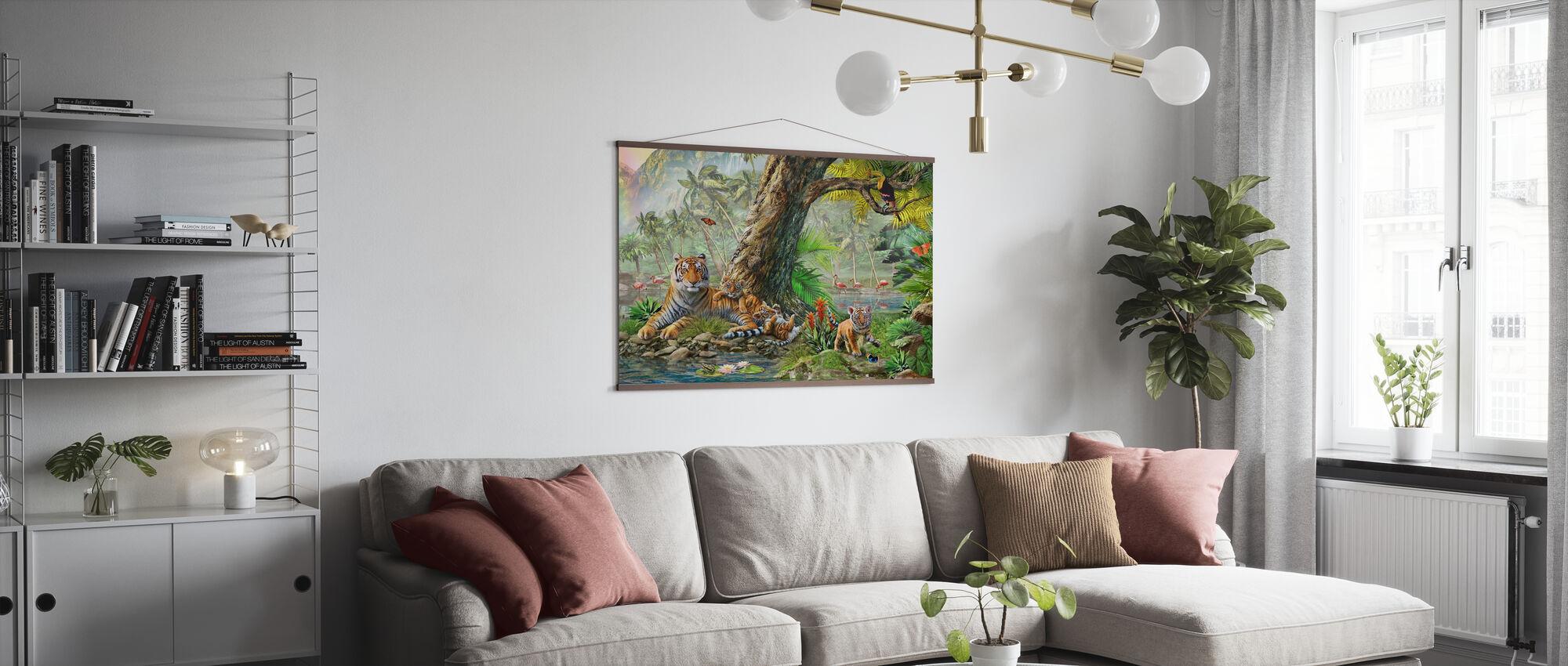 Land en water Utopia III - Poster - Woonkamer