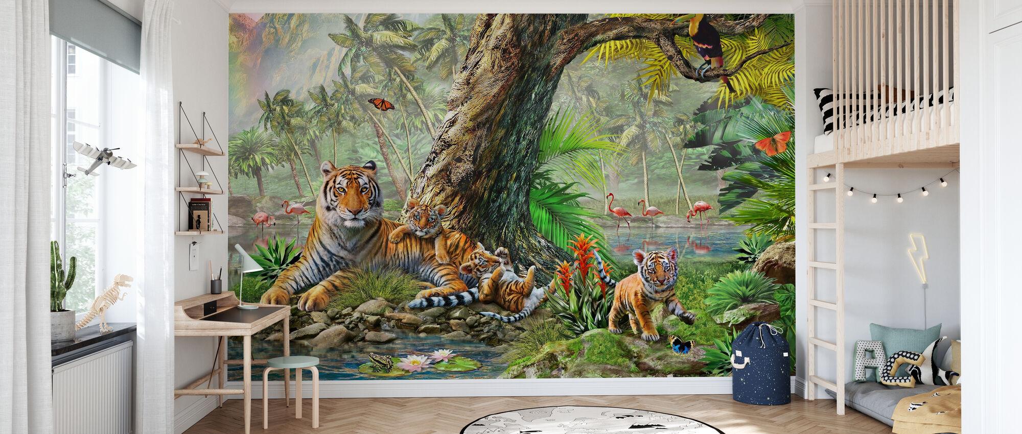 Land en water Utopia III - Behang - Kinderkamer